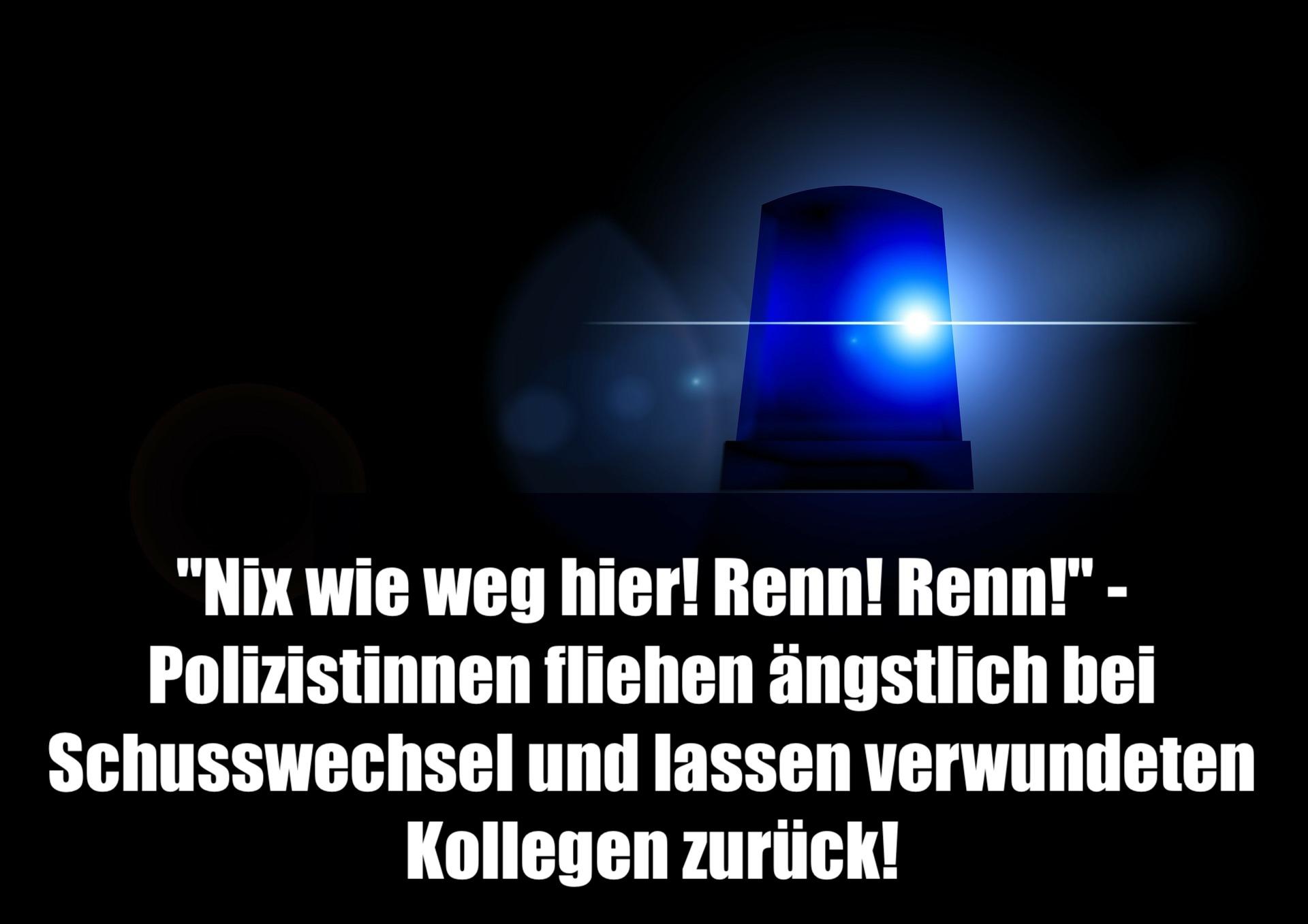 """""""Nix wie weg hier! Renn! Renn!"""" - Polizistinnen fliehen ängstlich bei Schusswechsel und lassen verwundeten Kollegen zurück!"""